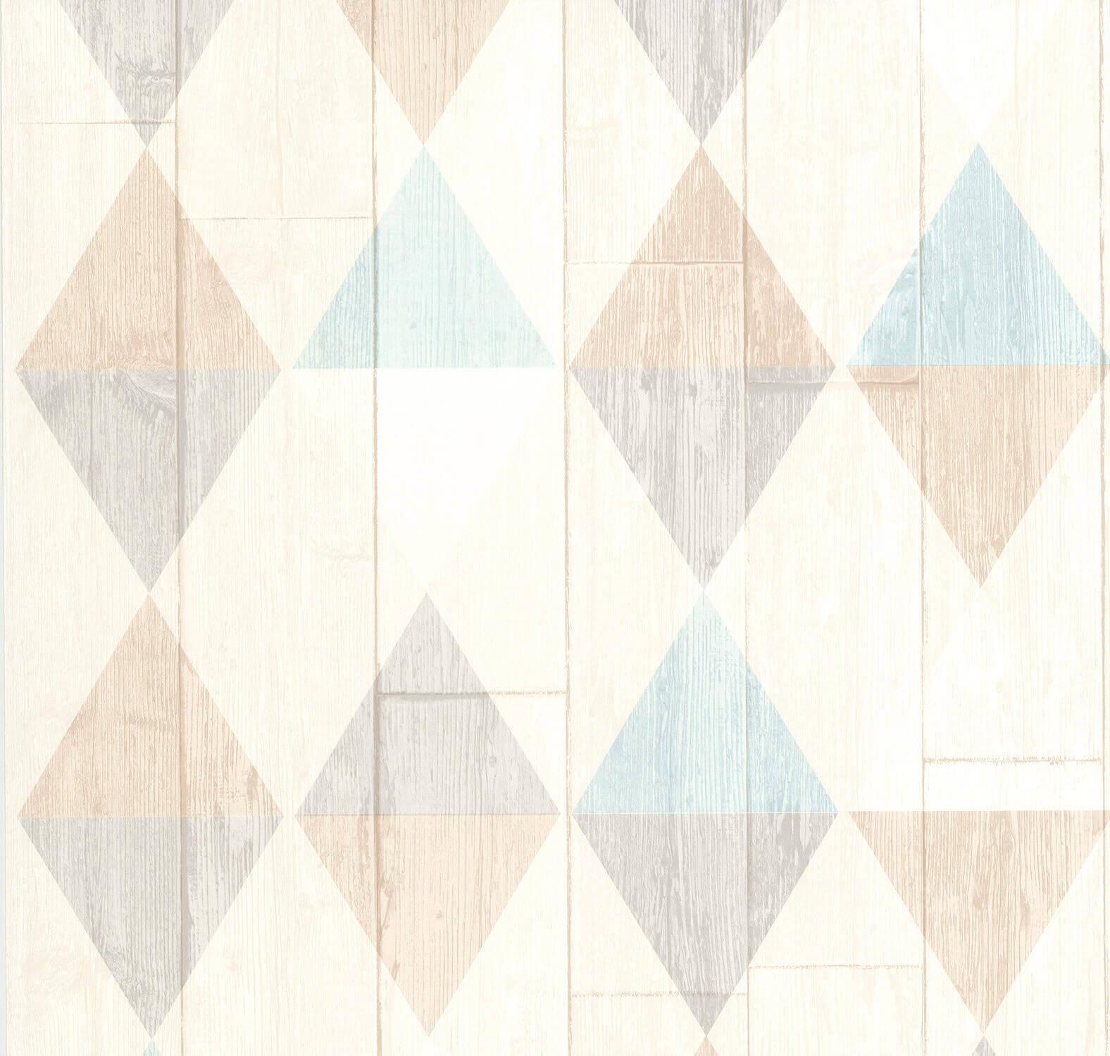 """42505-20-519 6 Rollen Vliestapeten Scandinavian-Design /""""Collage/"""" grau hellrot"""