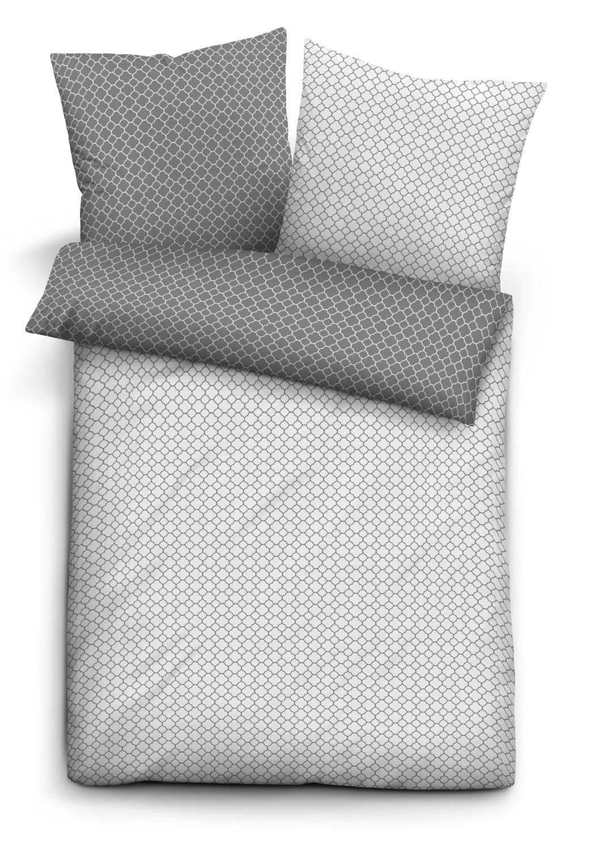 Bettwaren, -wäsche & Matratzen Biberna Melange-flanell Kissenbezug Kissen Bezug Kissenhülle Titanium 40 X 80cm